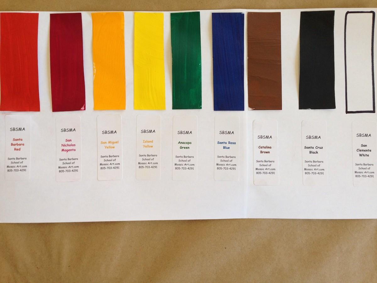 liquid tint sample chart