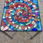Table top mosaic by student Dana.